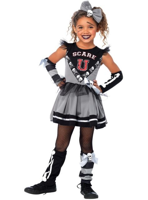Girls Scare U Cheerleader Costume - New Costumes - Girls Costumes ...