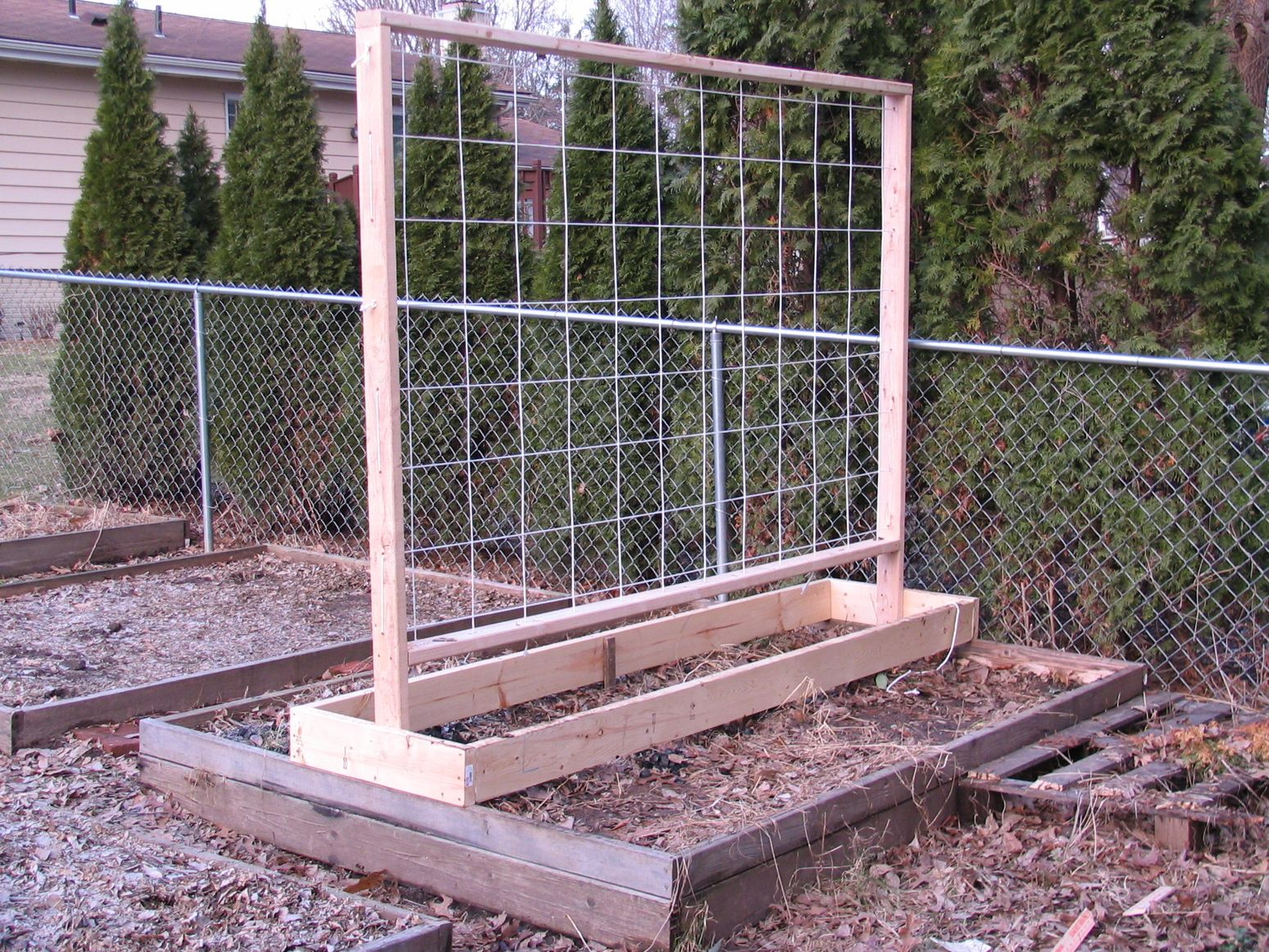 2011 Garden Trellis Design for my Raised Beds Tomato trellis