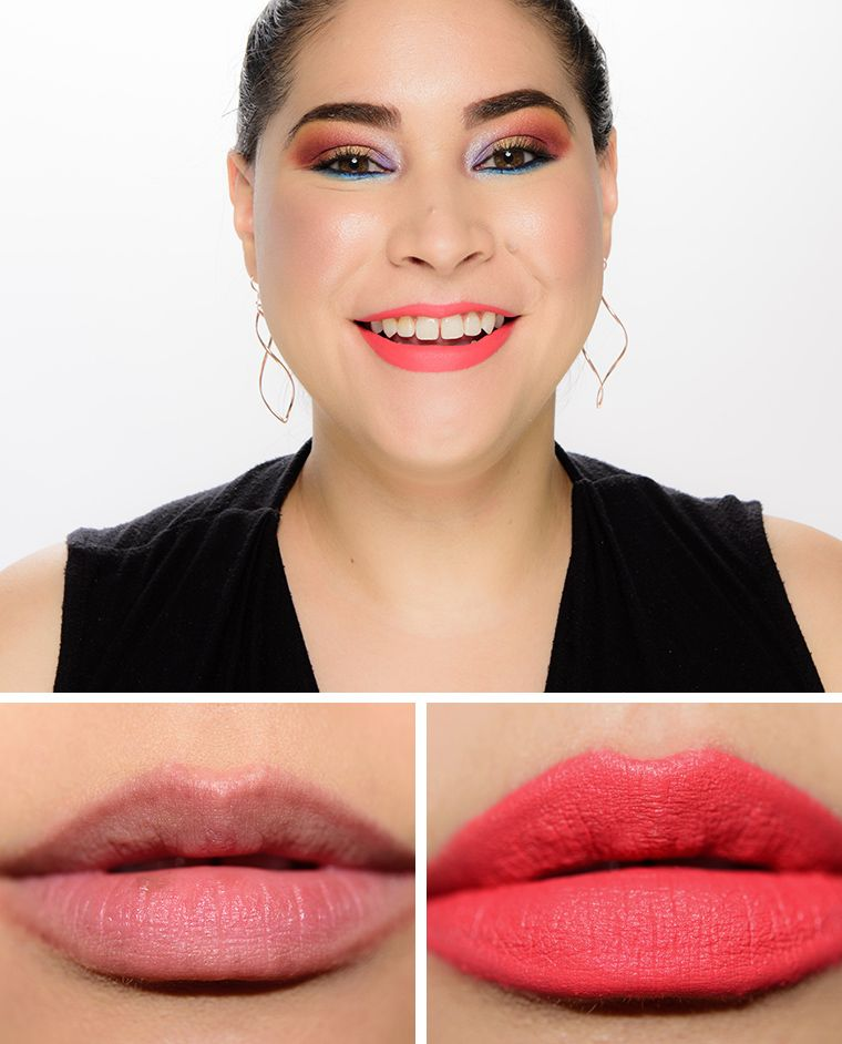 Fenty Beauty Dragon Mami Mattemoiselle Plush Matte Lipstick Review Swatches Lipstick Velvet Lipstick Revlon Super Lustrous Lipstick