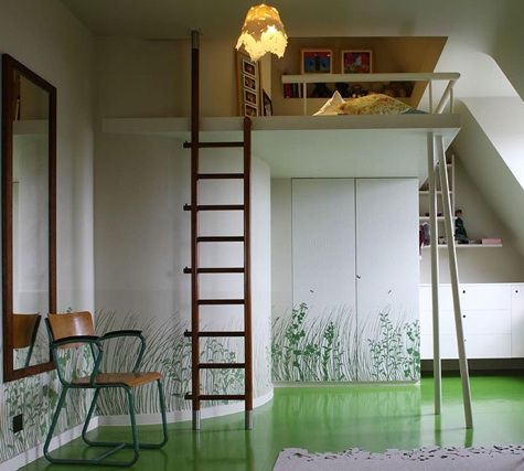 Loft Bed With Ladder For A Cozy Bed Space Above Closets Leaving Tons Of  Floor Space For A Childu0027s Bedroom.