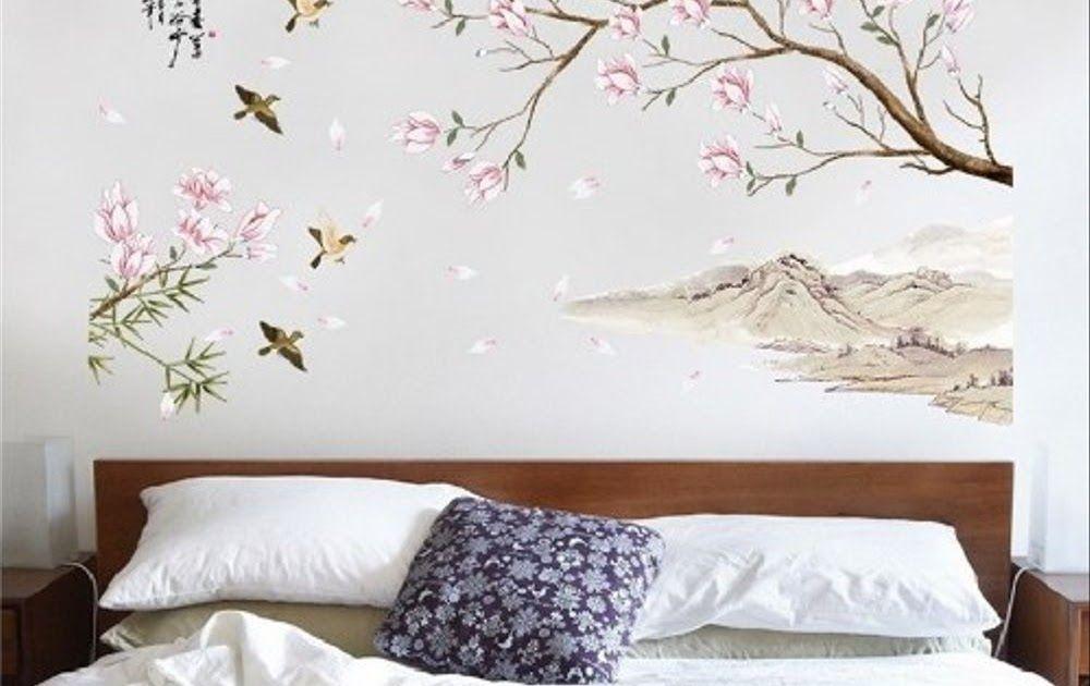 Fantastis 30 Gambar Bunga Lukisan Dinding Sticker Dinding Wallsticker 60x90 Lukisan Bunga Sakura Sk9286 Download Wallpa In 2020 Home Decor Home Decor Decals Decor