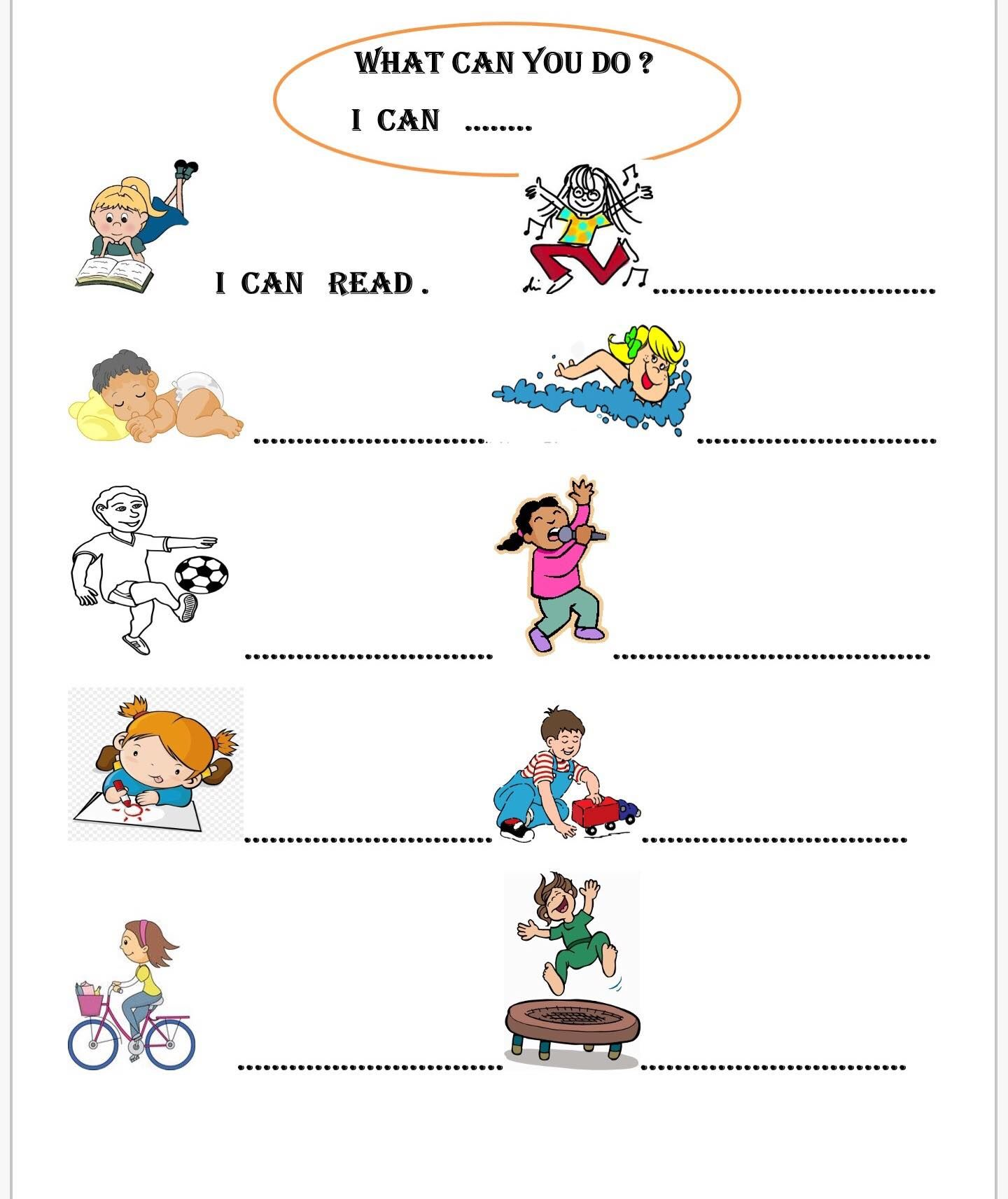 What Can You Do Begginers Level Worksheet Can Be Used By