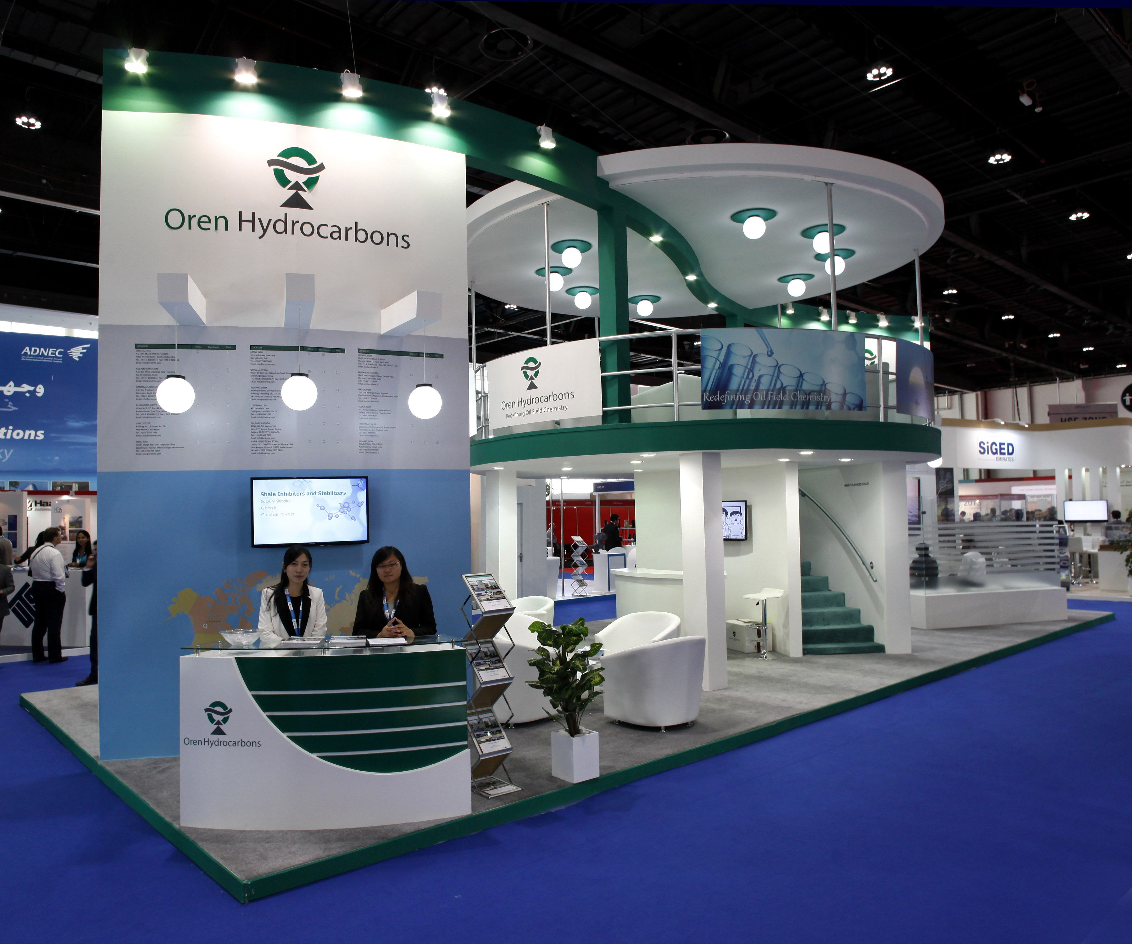 oren hydro carbons stand at adipec abu dhabi abu dhabi national exhibition centre exhibition stand design exhibition booth design exhibition stand