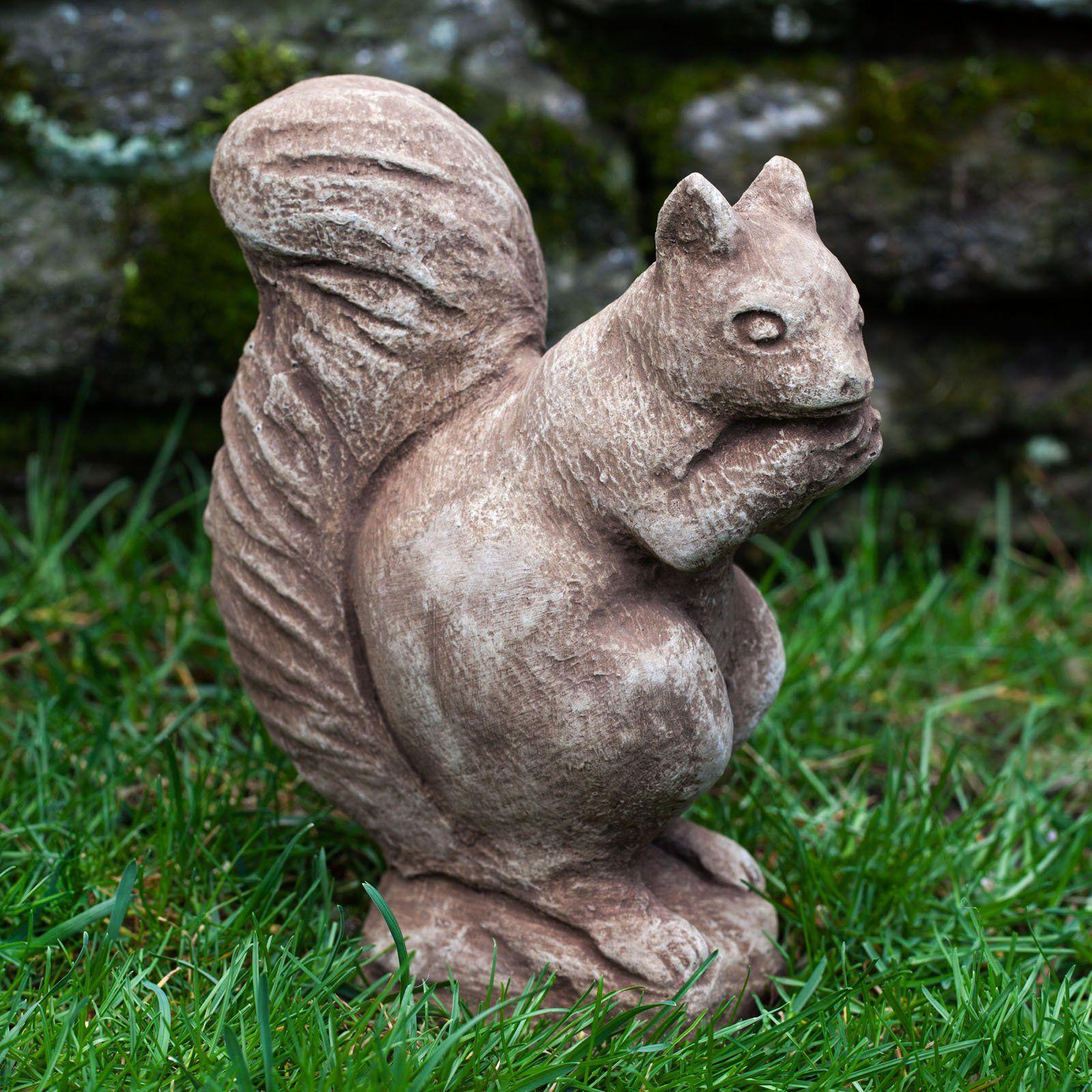 Campania International Standing Squirrel Cast Stone Garden Statue - A-098--AL