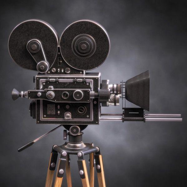 3d model classic film camera vintage film movie camera for Camera film logo