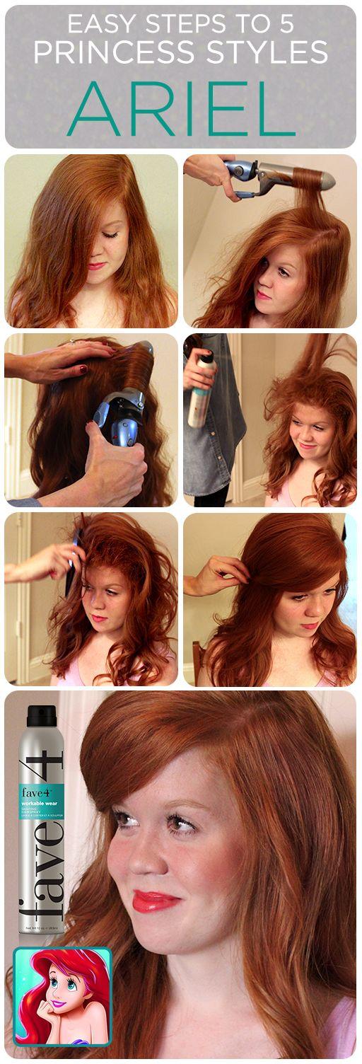 Ariel Hair Tutorial 5 Easy Princess Styles Disney Princess