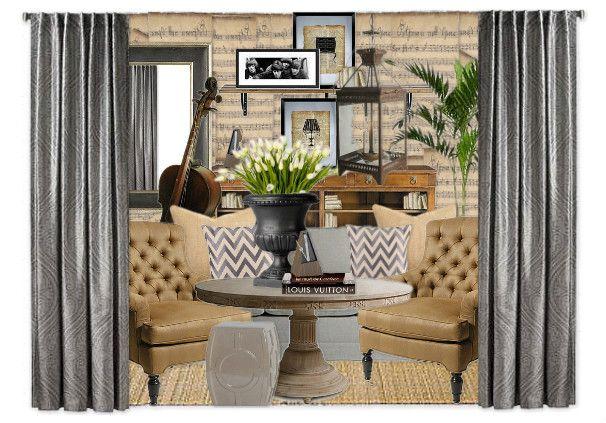 Music Room Gorgeous [GREIGE] by Jane Gianarelli @GRANGE Furniture #gray, #beige, #greige