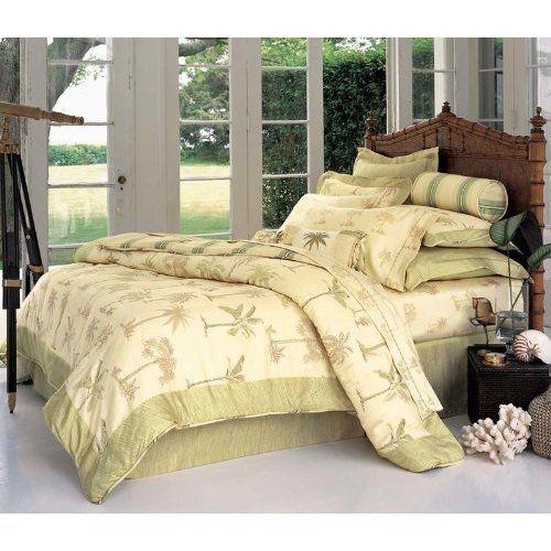 Palm Tree Bedding | Amazon.com: Palm Tree 3 Pcs King Comforter Set