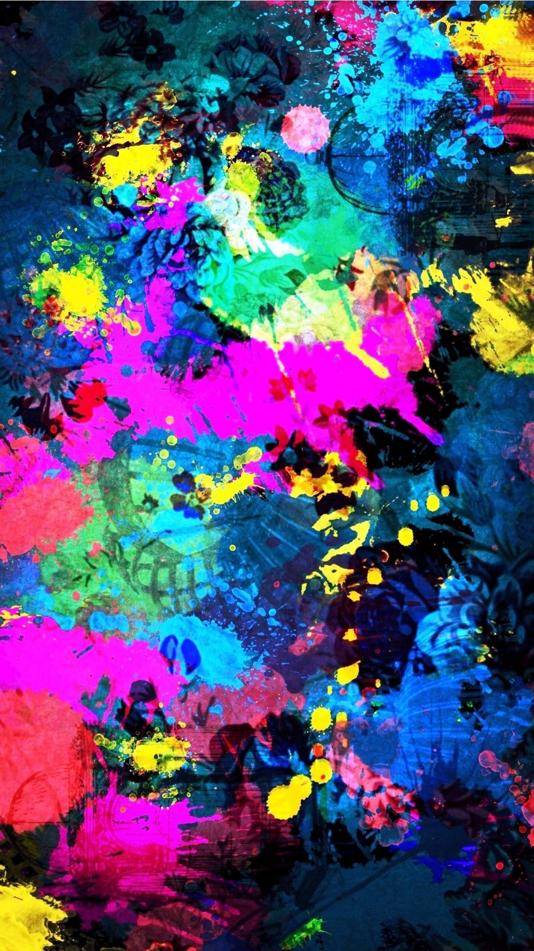 tap image for more beautiful iphone background! colorful splatter