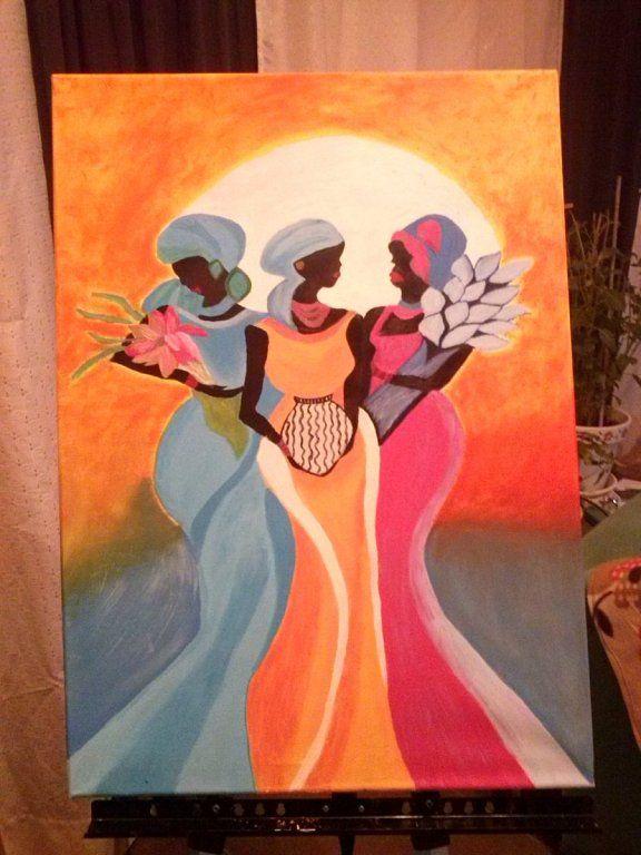 Cuadro pintado al oleo tzaneh manualidades pinterest - Manualidades faciles cuadros ...