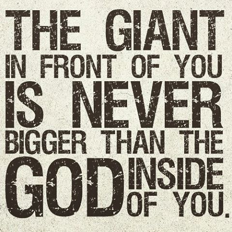 god is bigger than any challenge you face give it to him