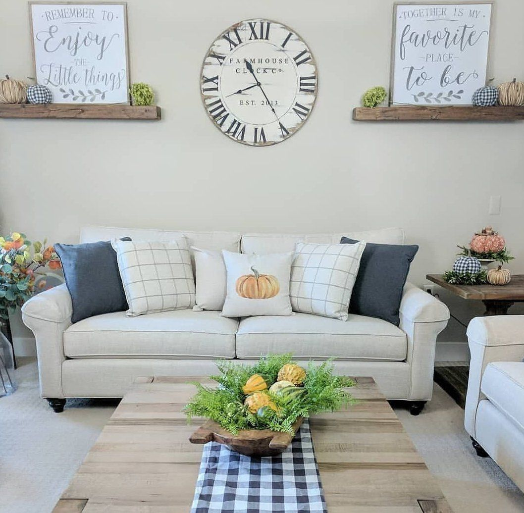39 Gorgeous Wall Clock Decoration For Your Small Living Room Living Ro Large Wall Decor Living Room Wall Decor Living Room Farmhouse Wall Decor Living Room