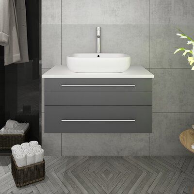 27+ Fresca lucera 60 gray wall hung modern bathroom cabinet with top best