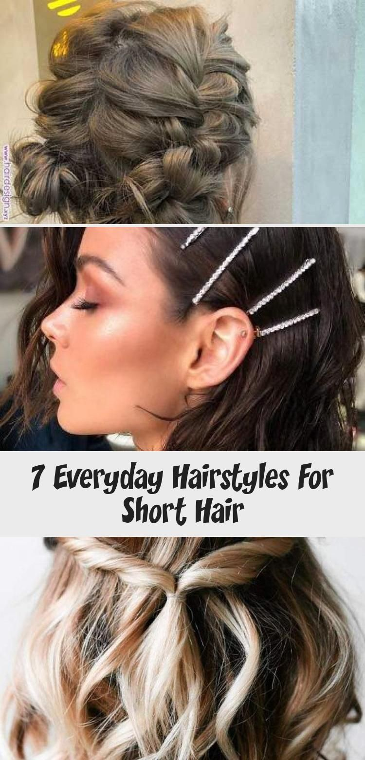7 Everyday Hairstyles For Short Hair Hairstyle 7 Everyday Hairstyles For Short Hair Simpleeverydayhairs In 2020 Hair Styles Everyday Hairstyles Short Hair Styles