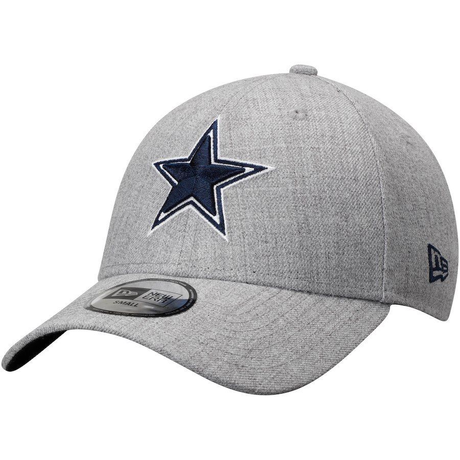 f203dc222db Men s Dallas Cowboys New Era Heathered Gray Team Crisp 49FORTY Fitted Hat
