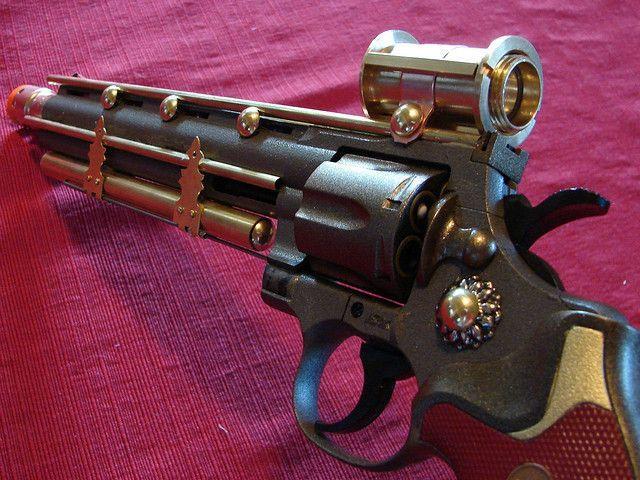 Steampunk Airsoft Revolver