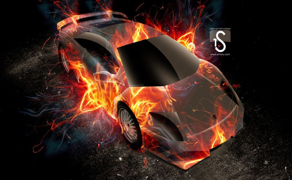 Lamborghini Fire HD Wallpaper