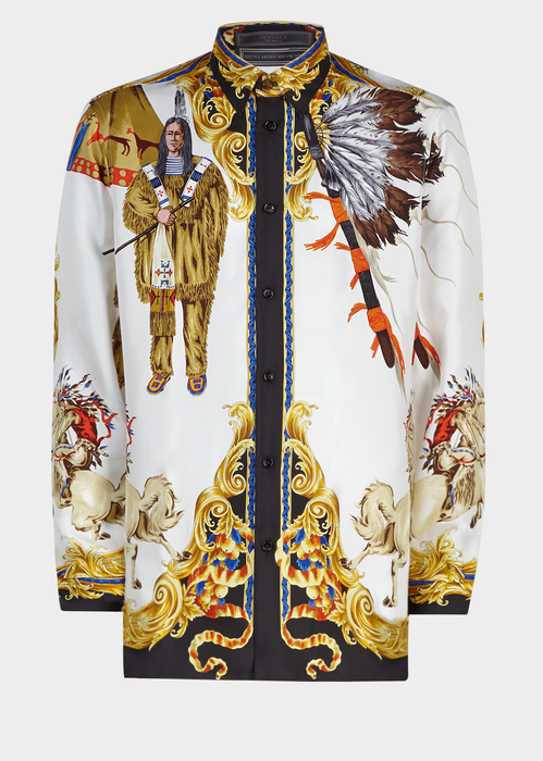 fc96eebf Native American FW'92 Silk Shirt for Men | US Online Store | War ...