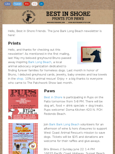 Local Dog Events, Gaming for the Greater Good + New Prints