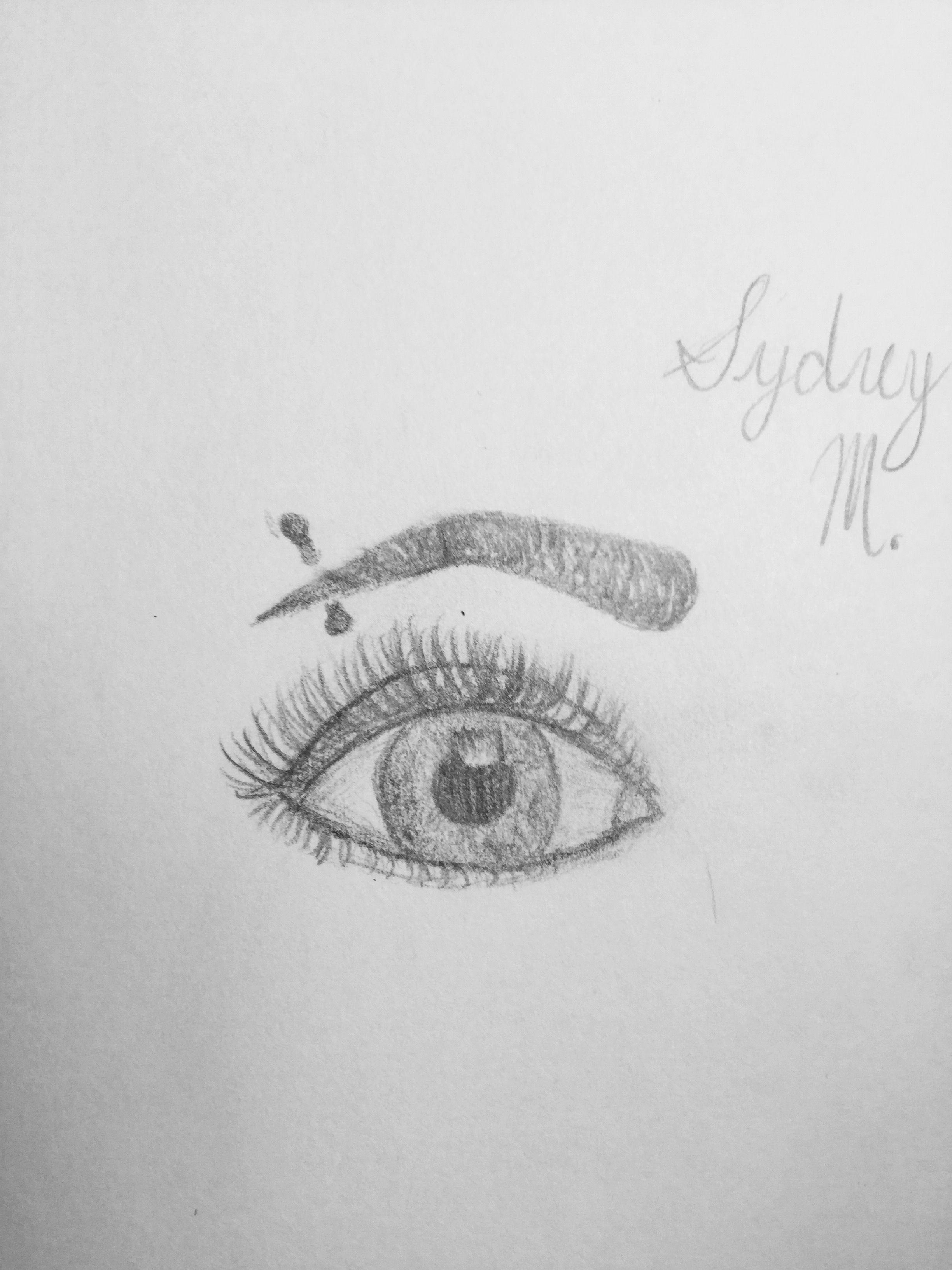 Pencil eye drawing eyebrow eye piercing sketch