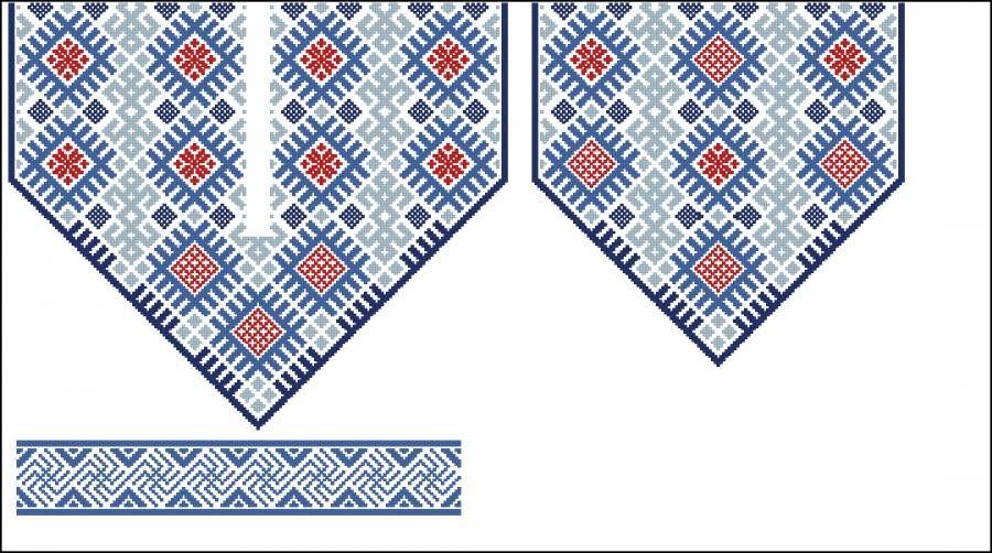 Сорочка синева - Узоры и орнаменты - Схемы вышивки ...