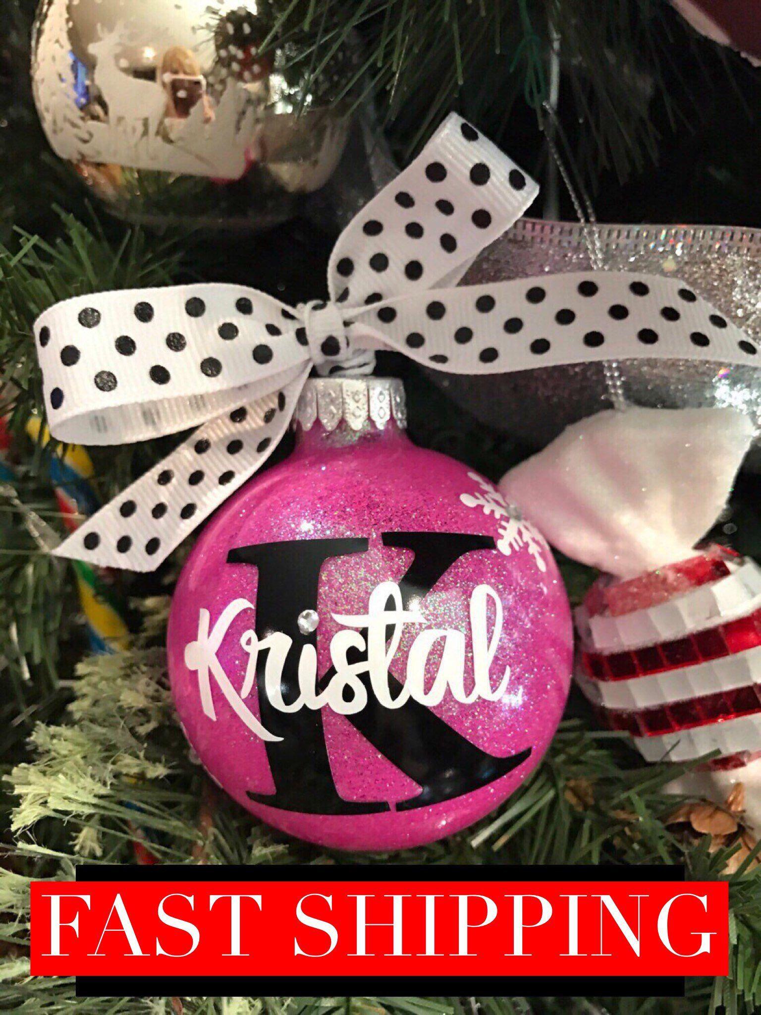 Personalized Ornament, Glass Ornament, Christmas Ornament