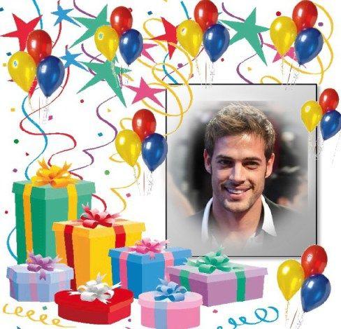 Marco con globos y regalos para Cumpleaños | Marcos para Fotos Gratis