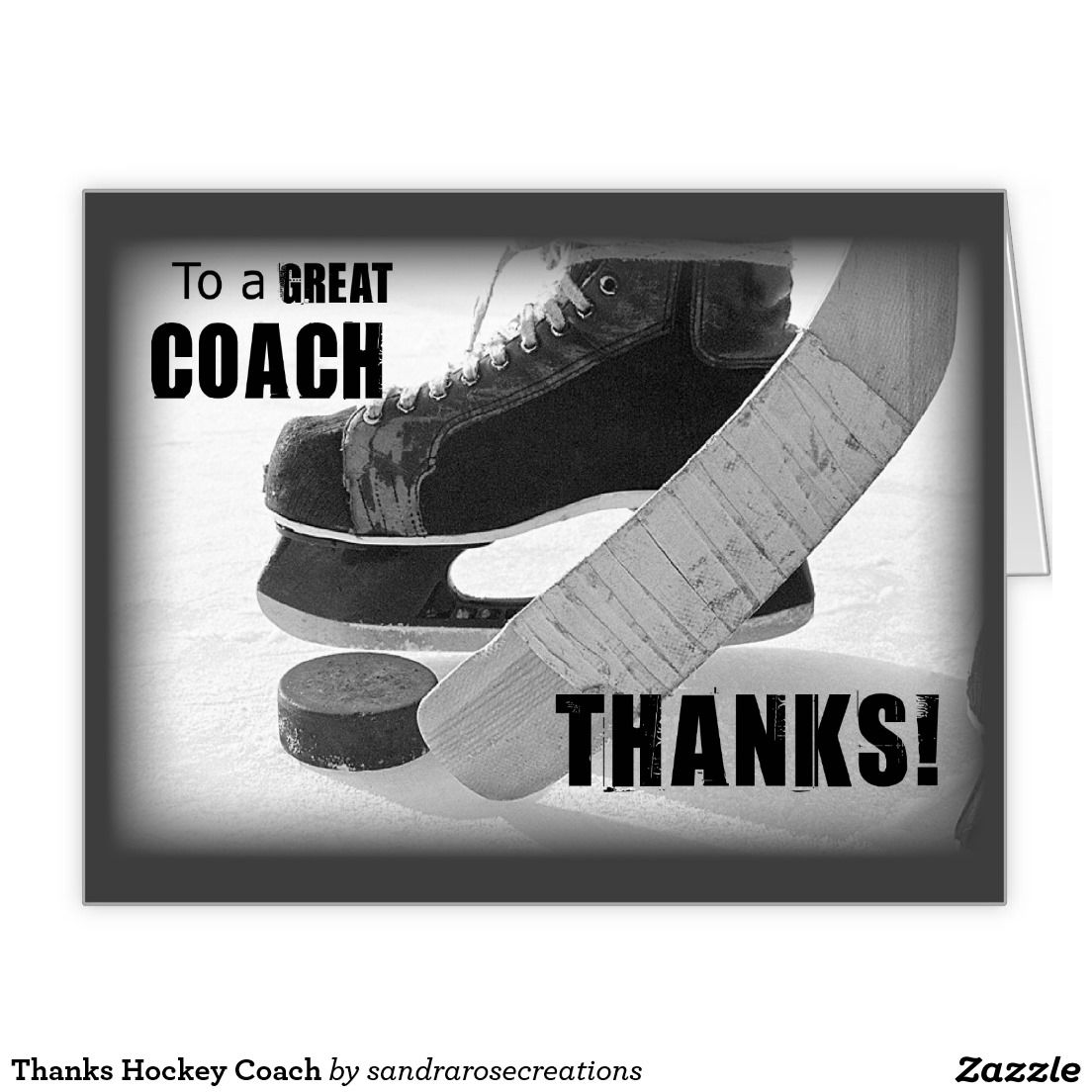 Thanks hockey coach greeting card hockey connections pinterest thanks hockey coach greeting card kristyandbryce Images