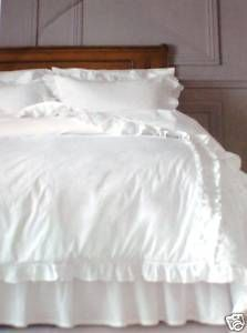 Jb Affordable Bedding Option Simply Shabby Chic F Q Full Queen White Comforter Ruffle Ruffled Cottag White Comforter Simply Shabby Chic White Ruffle Comforter
