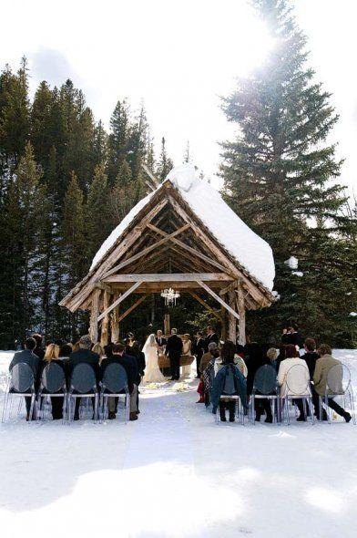 winter outdoor ceremony