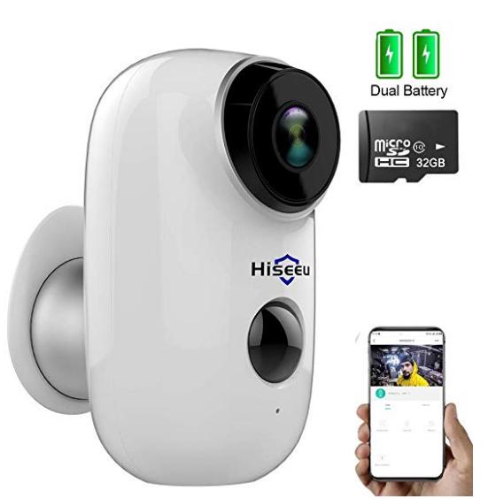 Hiseeu C10 32gb Pre Installed Wireless Battery Security Camera Wireless Home Security Home Security Systems Wireless Home Security Systems