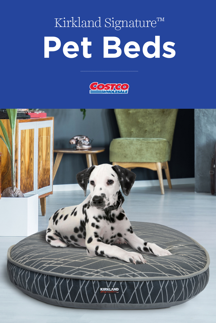 Kirkland Signature 42 Round Pet Bed Gray Dash Pet Beds Dog Bed Pet Bed