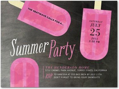 Cute summer party invite