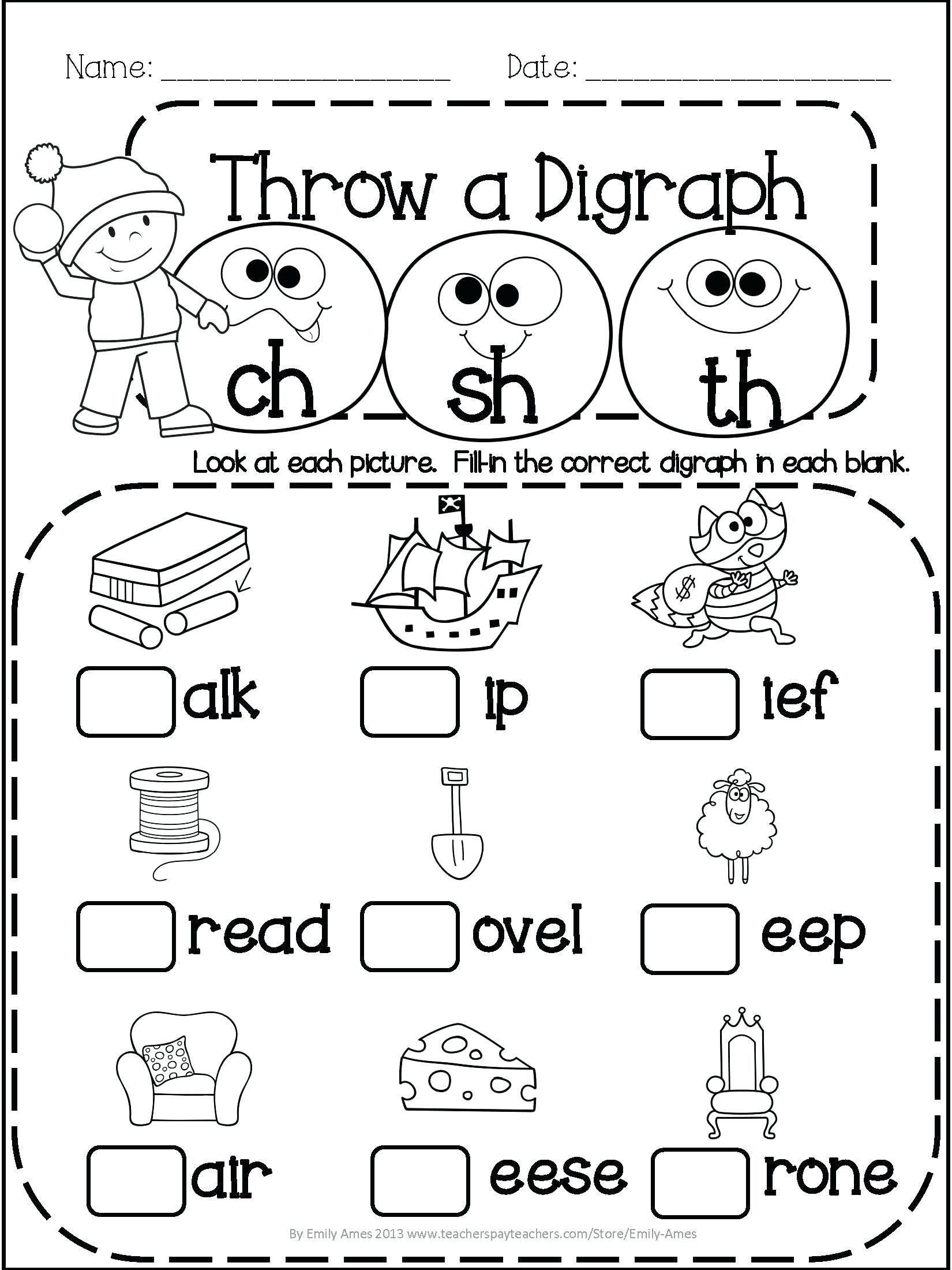 4 Free Math Worksheets Third Grade 3 Addition Word Problems my first of  kindergarten print…   Kindergarten phonics worksheets [ 2200 x 1650 Pixel ]