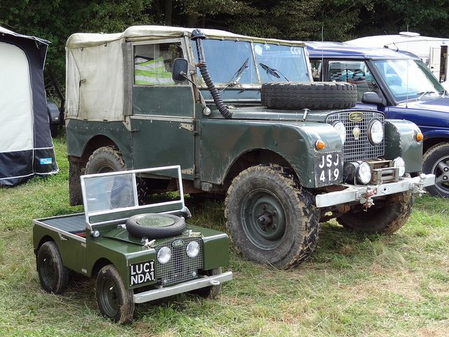 Mini Me Said The Land Rover One Day You Ll Grow Up To Be As Big