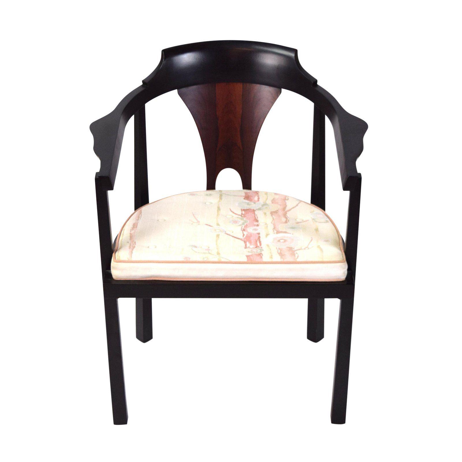 1960s Mid Century Modern Edward Wormley Dunbar Horseshoe Armchair