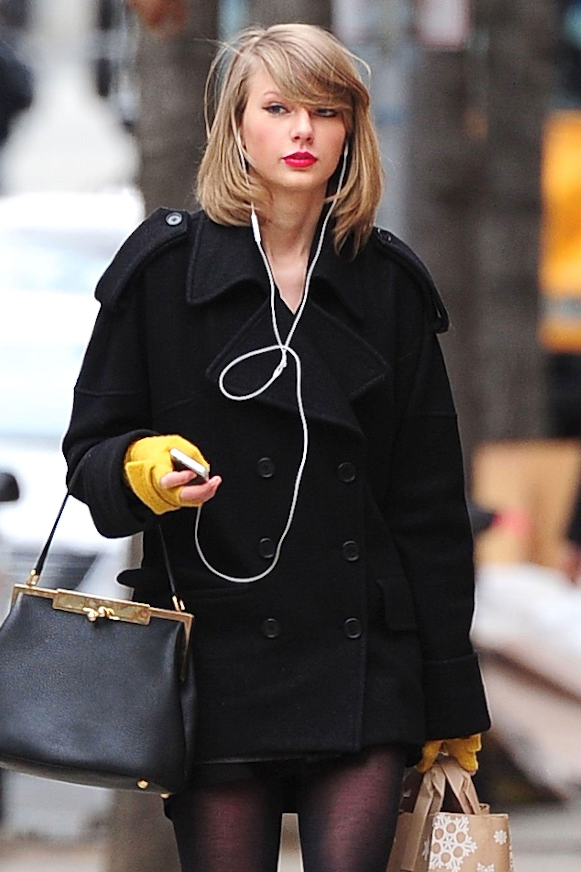 Swift debuts a new chop—off-duty never looked so good.   - HarpersBAZAAR.com
