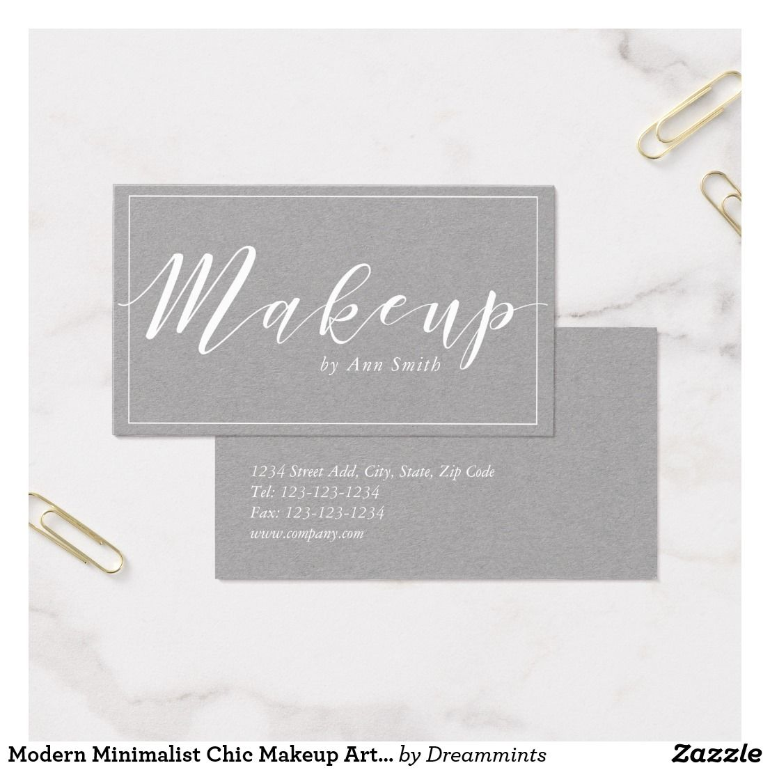 Elegant Calligraphy Makeup Artist Business Card Zazzle
