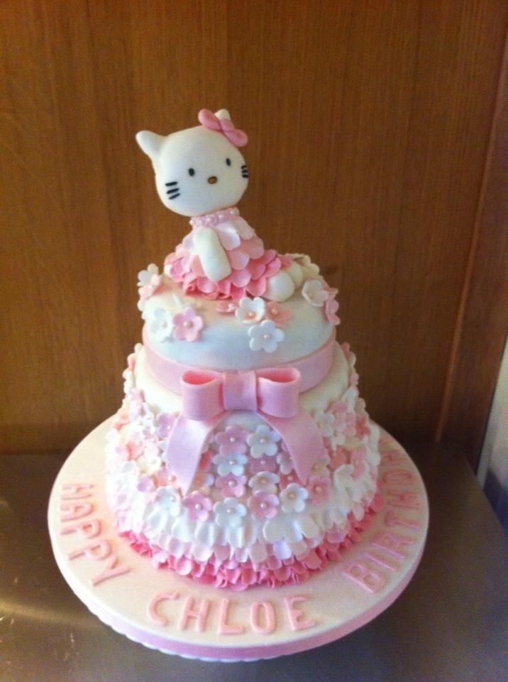 3 tier Hello Kitty Cake | Princess birthday cake, Hello ...