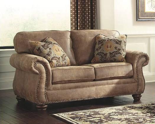 Larkinhurst Loveseat by Ashley HomeStore, Brown, Polyester