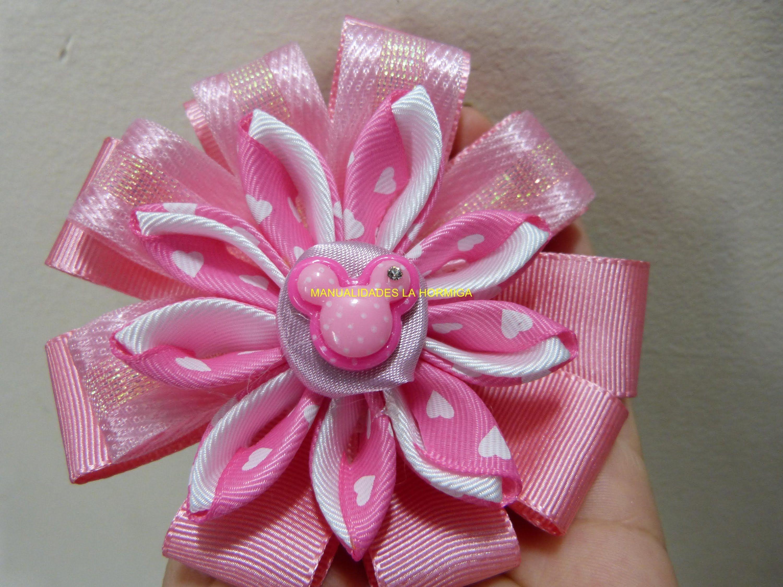 tutorial moños y flores en cinta faciles para el cabello paso a paso. Ma...