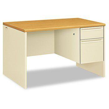 Hon38251cl 38000 Series Right Pedestal Desk By Hon 644 45 High Pressure Laminate Top Is Moisture Pedestal Desk Desk Home Office Desks