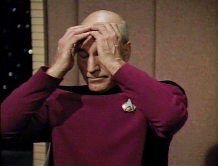 Captain Picard Facepalm Meme - Imgflip