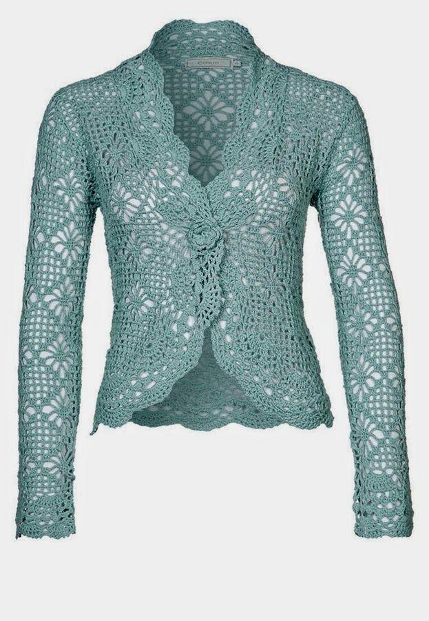 Inspirations Croche with Any Lucy: Cardigan   Prendas al Crochet ...