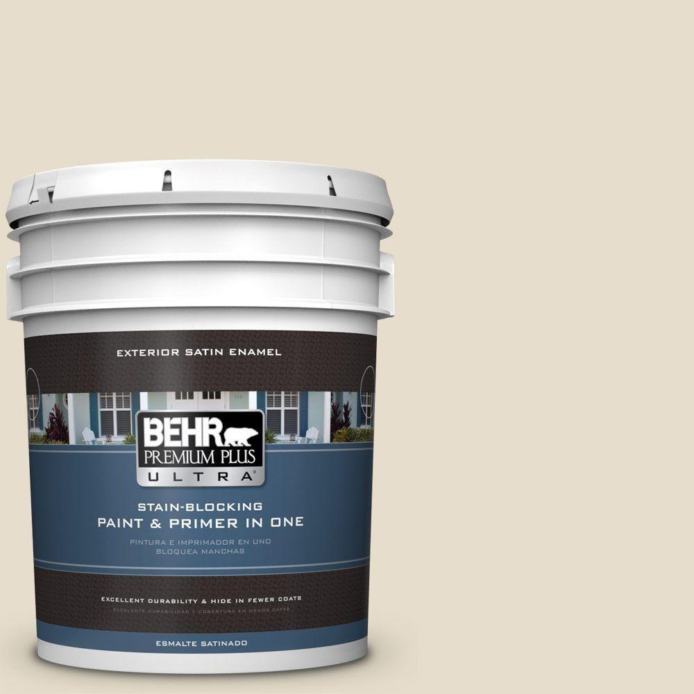 BEHR Premium Plus Ultra 5-gal. #ecc-21-1 Desert Plain Satin Enamel Exterior Paint
