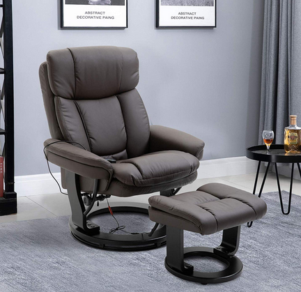 HOMCOM Massage Sofa Recliner Chair with Footrest, 10