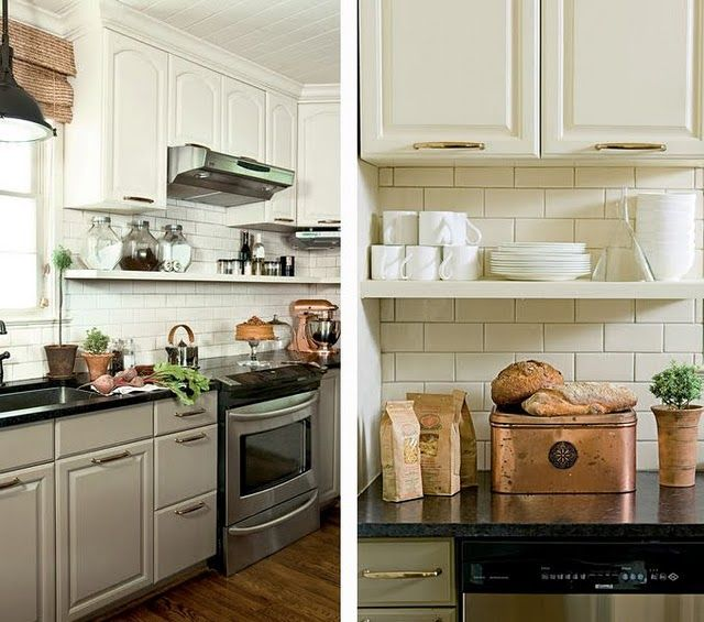 Open Shelf Kitchen Cabinet: Move Existing Cabinets Up On The Wall (to Have Up-to-the