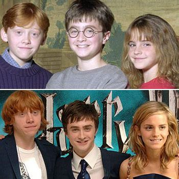 Trio Young And Old Harry Potter Friends Harry Potter Actors Harry Potter Images