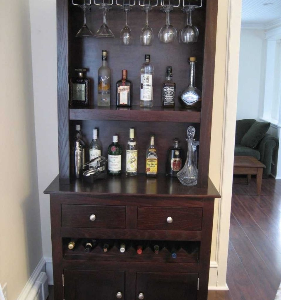 Masterly Luxury Living Room Wooden Glass Wine Bar Cabinet ...