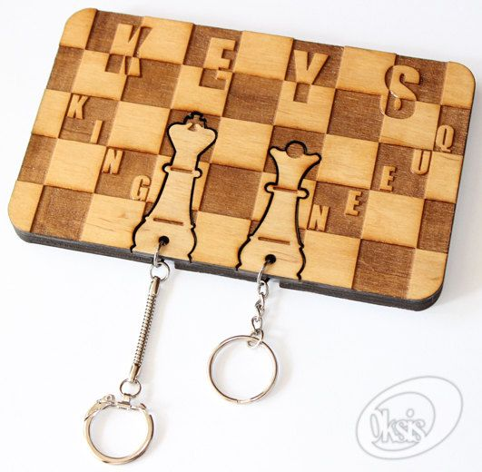 Wall Key Holder Wall Key Holder Chess Laser Cut Laser